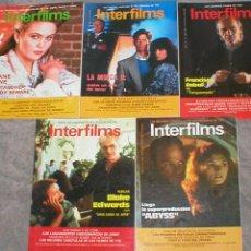 Cinema: GRAN LOTE COLECCION 19 REVISTAS DIFERENTES DE CINE INTERFILMS 1989 - 1991 OFERTA MIRA FOTOS !!. Lote 139031090