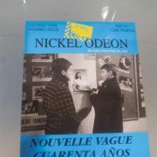 Cine: NICKEL ODEON. REVISTA TRIMESTRAL DE CINE. Nº 12 OTOÑO 1998 / NOUVELLE VAGUE / TRUFFAUT / ASTRUC / GO. Lote 139152030
