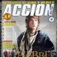 Cine: ACCIÓN Nº 1312 EL HOBBIT - COMPLETA CON PÓSTERS, FICHAS Y COLECCIONABLES. Lote 139425538