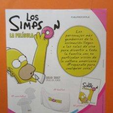 Cine: PUBLICIDAD 2007 - LOS SIMPSONS LA PELICULA. Lote 144033177