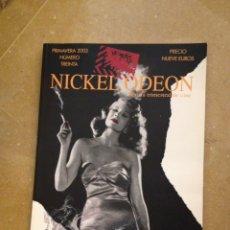 Cine: NICKEL ODEON. REVISTA TRIMESTRAL DE CINE N 30 CINE Y HUMO. Lote 139628216
