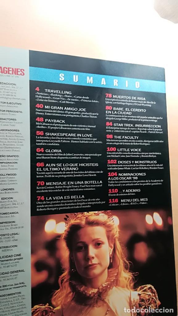 Cine: Revista Imagenes de Actualidad 179 (Marzo 99) Indice en fotos Gibson Charlize Theron Pfeiffer - Foto 2 - 139701110