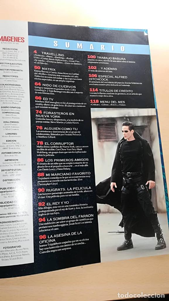 Cine: Revista Imagenes de Actualidad 182 (Junio 99) Indice en fotos Especial Matrix Jennifer Aniston - Foto 2 - 139702558