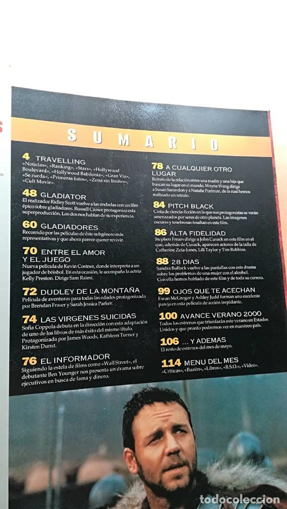 Cine: Revista Imagenes de Actualidad 192 (Mayo 2000) Indice en fotos Especial Gladiator pitch black Bulloc - Foto 2 - 139706118