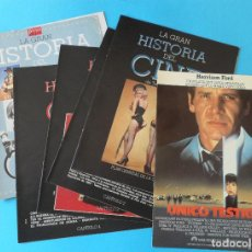 Cinema: LA GRAN HISTORIA DEL CINE DE TERENCI MOIX - BLANCO Y NEGRO + FICHA TÉCNICA DE UNICO TESTIGO. Lote 139885958