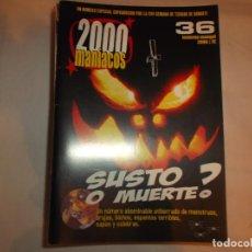 Cinéma: 2000 MANIACOS Nº 36,SUSTO O MUERTE,UN NUMERO ABOMINABLE ATIBORRADO DE MONSTRUOS,BRUJAS. Lote 139939202