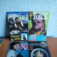 Cine: 4 MAGAZINES ESPECIALES STAR WARS , THE FORCE. Lote 140178528