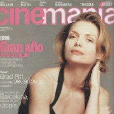 Cine: CINEMANIA #4 1996 MICHELLE PFEIFFER BRAD PITT JACQUELINE BISSET ARIADNA GIL ICIAR BOLLAIN CINE. Lote 140373450