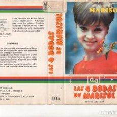 Cinema: - CARATULA ORIGINAL - LAS CUATRO BODAS DE MARISOL. Lote 140438910