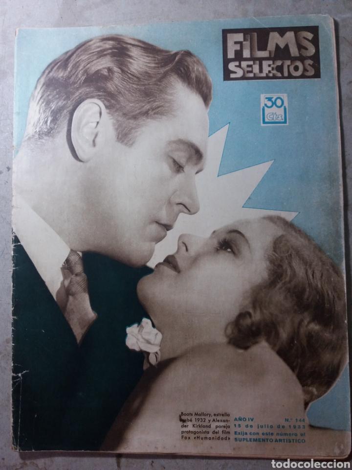 CINE FILMS SELECTOS 1932 (Cine - Revistas - Films selectos)