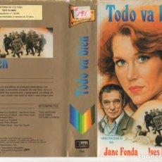 Cinéma: - CARATULA ORIGINAL - TODO VA BIEN - EDICION VIDEOTECHNICS. Lote 140660550