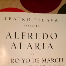 Cine: PROGRAMA TEATRO ALFREDO ALARIA. Lote 140713748