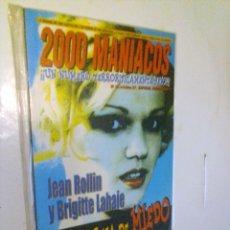 Cine: REVISTA FANZINE 2000 MANÍACOS NUMERO 19.. Lote 141915242