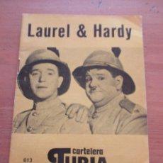 Cine: CARTELERA TURIA 613 OCTUBRE 1975 LAUREL & HARDY. Lote 141960110
