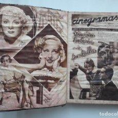 Cine: TOMO 2, LOTE 25 REVISTAS DE CINE CINEGRAMAS, AÑO II 1935 , VER FOTOS, TARZAN, CHARLOT, GORDO FLACO. Lote 142072158