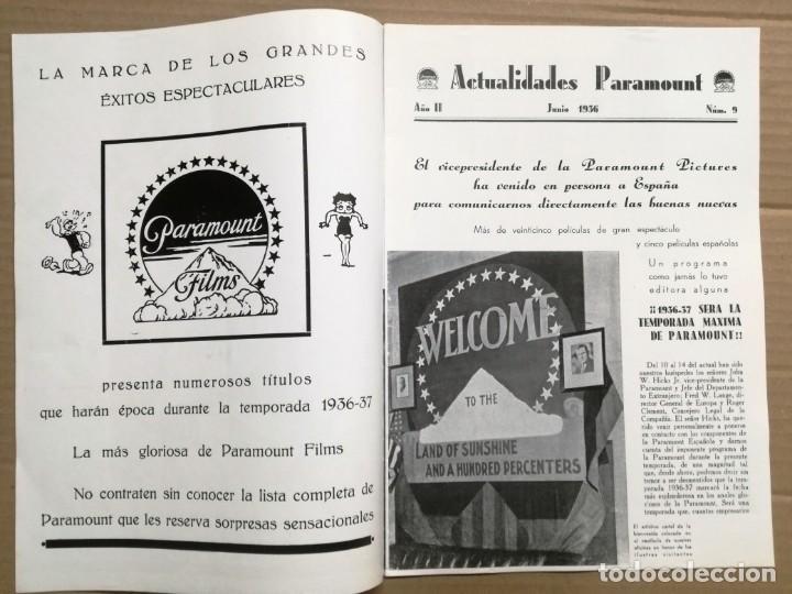Cine: ACTUALIDADES PARAMOUNT.REVISTA DE CINE JUNIO 1936 Nº 9. VER FOTOS - Foto 3 - 142143910