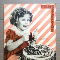 Cine: FILMS SELECTOS AÑO 1936 N 292-SHRLEY TEMPLE-POSTER DE PAT OBRIEN.. Lote 142148598