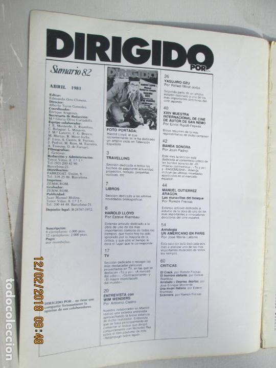 Cine: DIRIGIDO POR REVISTA DE CINE Nº 82 - ABRIL 1981 - Foto 2 - 142916350