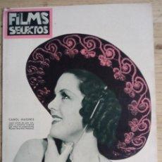 Cine: FILMS SELECTOS Nº 296 - JUNIO 1936 - CAROL HUGHES. Lote 143265278