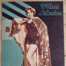 Cine: FILMS SELECTOS Nº 306 - NOVIEMBRE 1936 - IDA LUPINO. Lote 143265902