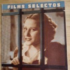 Cine: FILMS SELECTOS Nº 298 - JULIO 1936 - RAQUEL RODRIGO. Lote 143266206