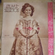 Cine: FILMS SELECTOS Nº 314 - SHIRLEY TEMPLE - INCLUYE LAMINA FOTO ANN SOTHERN. Lote 143266738