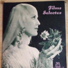 Cine: FILMS SELECTOS Nº 268 - DICIEMBRE 1935 - ANITA LOUISE. Lote 143267586