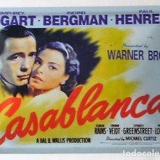 Cine: CASABLANCA - MICHAEL CURTIZ - CARTEL DE CHAPA. Lote 143523706