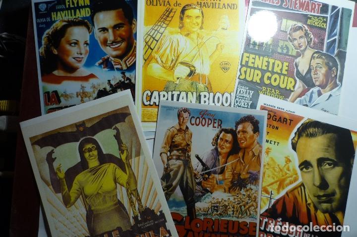 LOTE REPRODUCCIONES CARTELES EXTRANJEROS DE PELICULAS CLASICAS EN FOTO PAPEL.- (Cine - Reproducciones de carteles, folletos...)