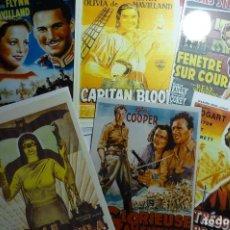 Cine: LOTE REPRODUCCIONES CARTELES EXTRANJEROS DE PELICULAS CLASICAS EN FOTO PAPEL.-. Lote 143548358