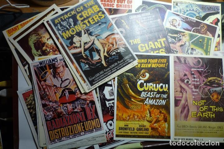 LOTE REPROD.CARTELES EXTRANJEROS TAMAÑO POSTAL APROX.PELICULAS DE TERROR EN PAPEL, FOTO,POSTAL (Cine - Reproducciones de carteles, folletos...)
