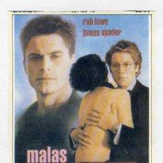 Cine: FOLLETO DE CINE RECORTE DE REVISTA: MALAS INFLUENCIAS. Lote 143791494