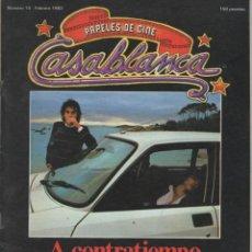 Cine: REVISTA CASABLANCA Nº 14 FEBRERO 1982 A CONTRATIEMPO OSCAR LADOIRE - BERTOLUCCI - MANKIEWICZ - CINE. Lote 144143294