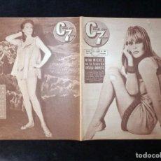 Cine: REVISTA CINE EN 7 DIAS C7. Nº 278, 1966. NINA MICHEL, LEON KLIMOVSKY, AKIKO, RAPHAEL, ANITA EKBERG. Lote 144153086
