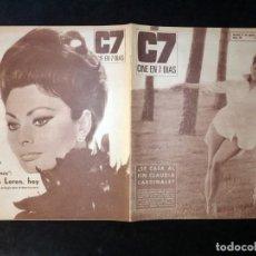 Cine: REVISTA CINE EN 7 DIAS C7. Nº 281, 1966. CLAUDIA CARDINALE, ADRIANO DOMINGUEZ, SOFIA LOREN, SENTA BE. Lote 144153150