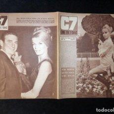 Cine: REVISTA CINE EN 7 DIAS C7. Nº 287, 1966. SUZY KENDALL, SOFIA LOREN, LOS PEKENIKES, ROD TAYLOR. Lote 144153262
