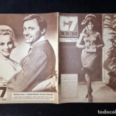 Cine: REVISTA CINE EN 7 DIAS C7. Nº 292, 1966. ANN MARGRET, PATRICIA SHEPARD. MARLON BRANDO, LOLA FLORES. Lote 144153378
