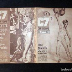 Cine: REVISTA CINE EN 7 DIAS C7. Nº 298, 1966. ELKE SOMMER, BRIGITTE BARDOT BB, WALT DISNEY, RAPHAEL. Lote 144153782