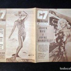Cine: REVISTA CINE EN 7 DIAS C7. Nº 326, 1967. JAYNE MANSFIELD, CONCHITA VELASCO, MARISA MELL, KIM NOVAK, . Lote 144153934