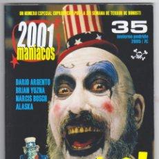 Cine: 2001 MANÍACOS - NÚMERO 35 - AÑO 2001 - PERFECTO ESTADO. Lote 144155422