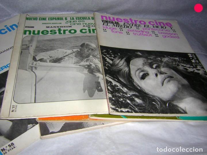 NUESTRO CINE 10 REVISTAS DE AÑOS 60, 3 DOBLES (Cine - Revistas - Otros)