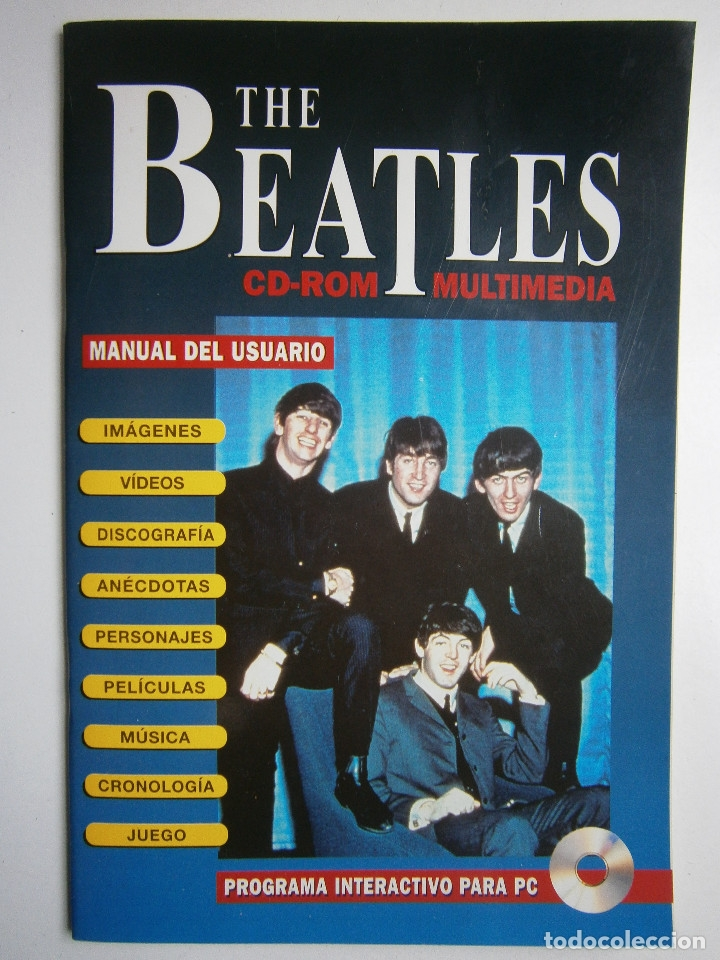 Cine: THE BEATLES CD ROM MULTIMEDIA JOAQUIN LUQUI TREBOL 1995 - Foto 2 - 38658752