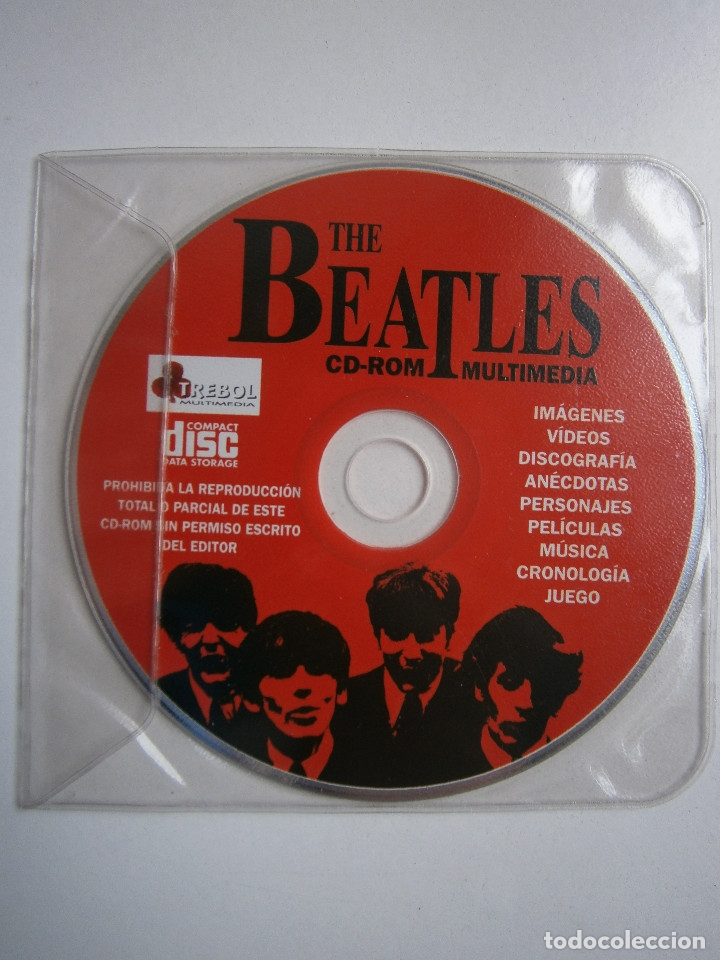 Cine: THE BEATLES CD ROM MULTIMEDIA JOAQUIN LUQUI TREBOL 1995 - Foto 3 - 38658752