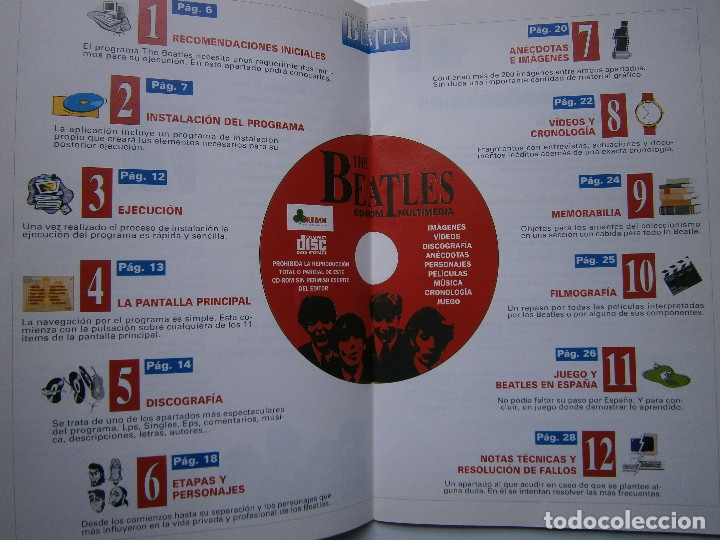 Cine: THE BEATLES CD ROM MULTIMEDIA JOAQUIN LUQUI TREBOL 1995 - Foto 5 - 38658752