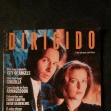 Cine: DIRIGIDO POR... Nº 270-1998-EXPEDIENTE X-INGMAR BERGMAN-GODZILLA. Lote 144501250