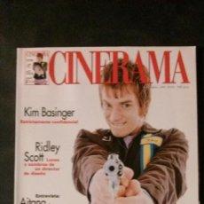 Cine: CINERAMA 63-1997-EWAN MCGREGOR-KIM BASINGER-BIGAS LUNA-RIDLEY SCOTT-JOHN LEQUIZAMO-CLAUDE CHABROL. Lote 144515706