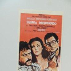 Cinéma: SABADO INESPERADO - FOLLETO MANO REPRODUCCION GRAFICAS MARFIL 1983 - MARCELLO MASTRONIANNI . Lote 144542202