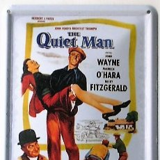 Cine: THE QUIET MAN - EL HOMBRE TRANQUILO - JOHN FORD - CARTEL DE CHAPA. Lote 144780594