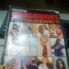 Cine: REVISTA NUEVO FOTOGRAMAS SEXY CALENDARIO 71. Lote 145023154