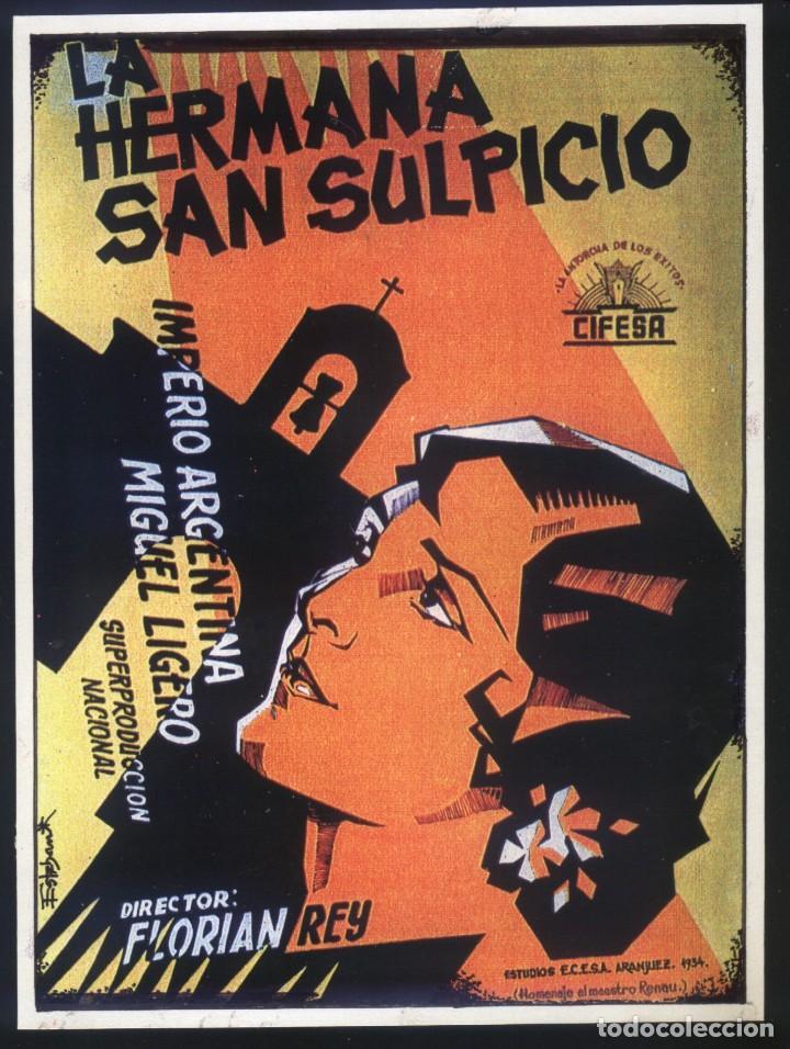 P-7780- LA HERMANA SAN SULPICIO (CARTEL DE ESTEBAN LIROLA EN FORMATO DE FOLLETO DE MANO) (Cine - Reproducciones de carteles, folletos...)